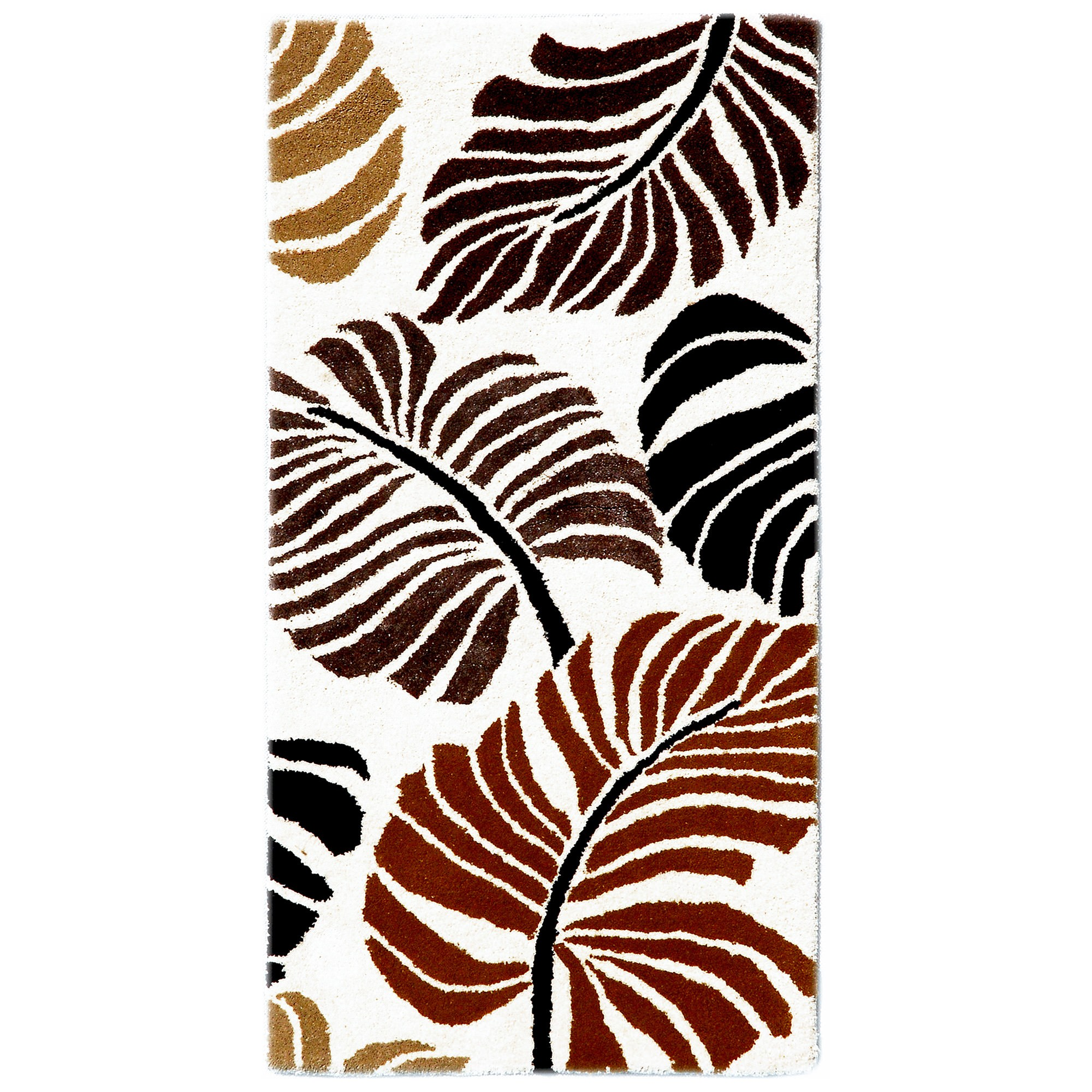 Botanical No.5059 Handmade Wool Rug, 120x60cm