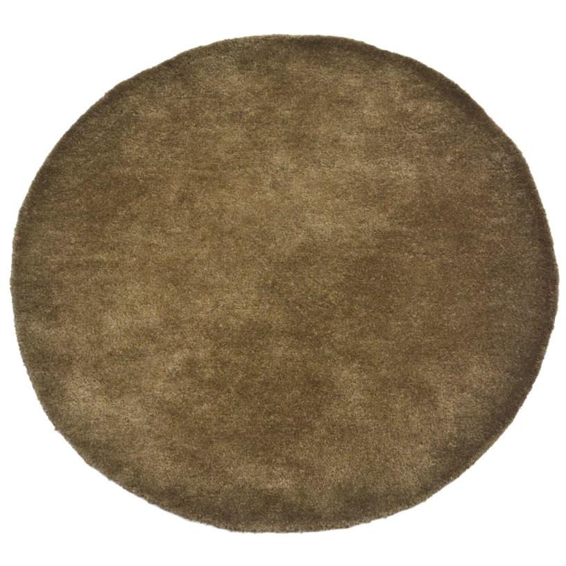 Bulloo Handmade Round Wool Rug, 90cm, Brown