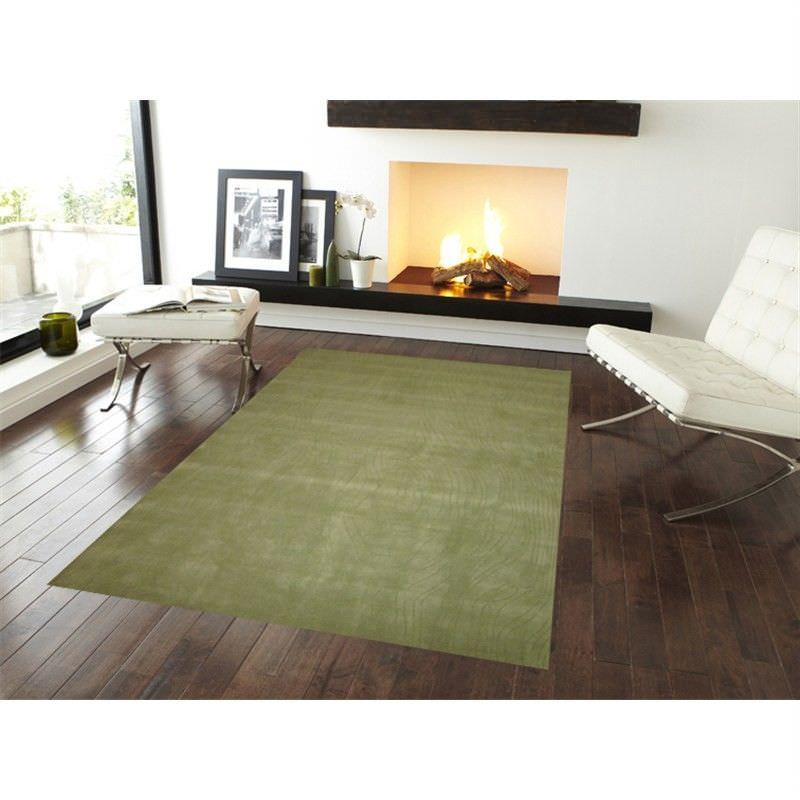 Elite No.1002 Modern Wool Rug in Green - 190x280cm