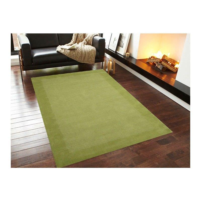 Elite 1041 Handmade Wool Rug in Green - 80x300cm