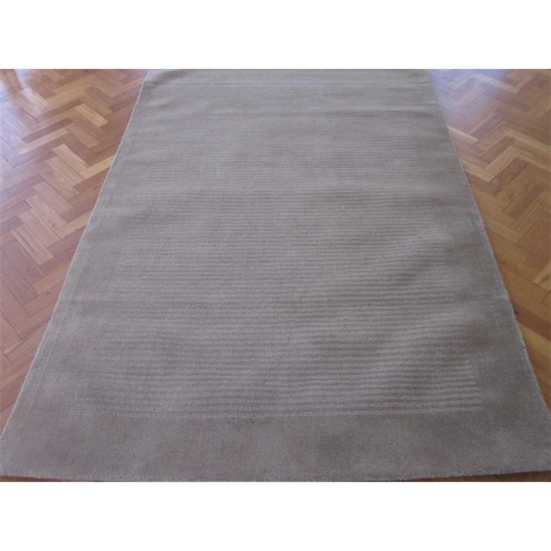 Elite Handwoven 100% Wool Runner Rug in Taupe - 80X300cm