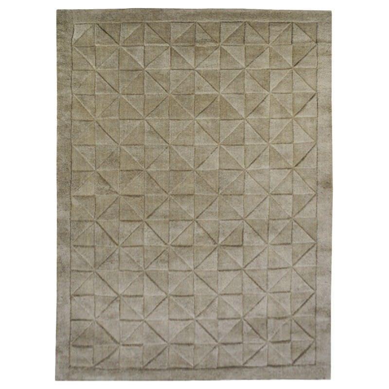 Caberston Modern Wool Rug, 280x190cm, Taupe