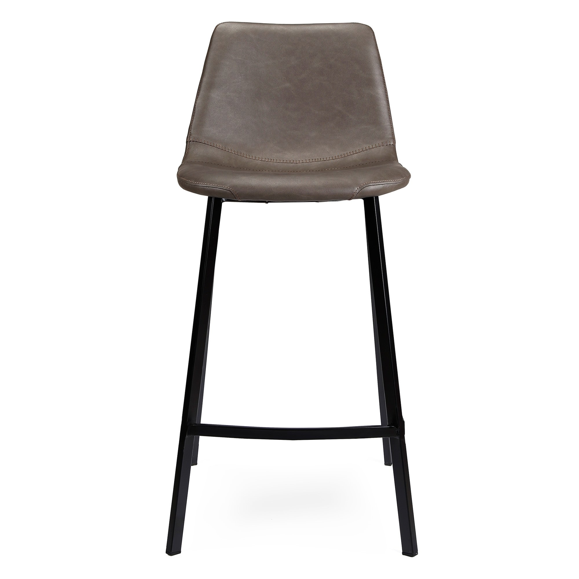 Hugo Faux Leather Counter Stool, Antique Grey