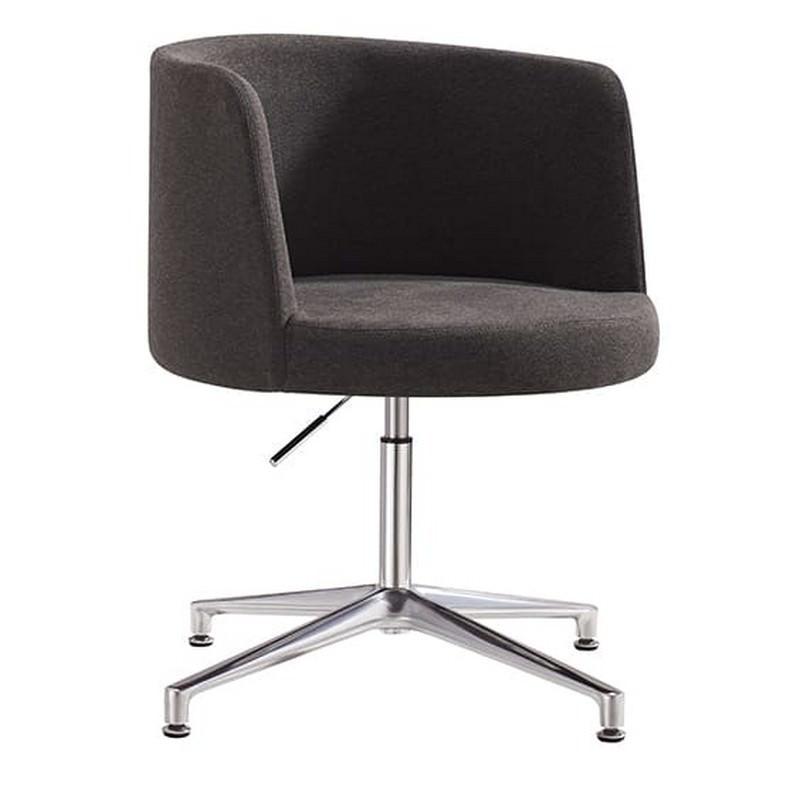 Hula Fabric Breakout Chair, Charcoal