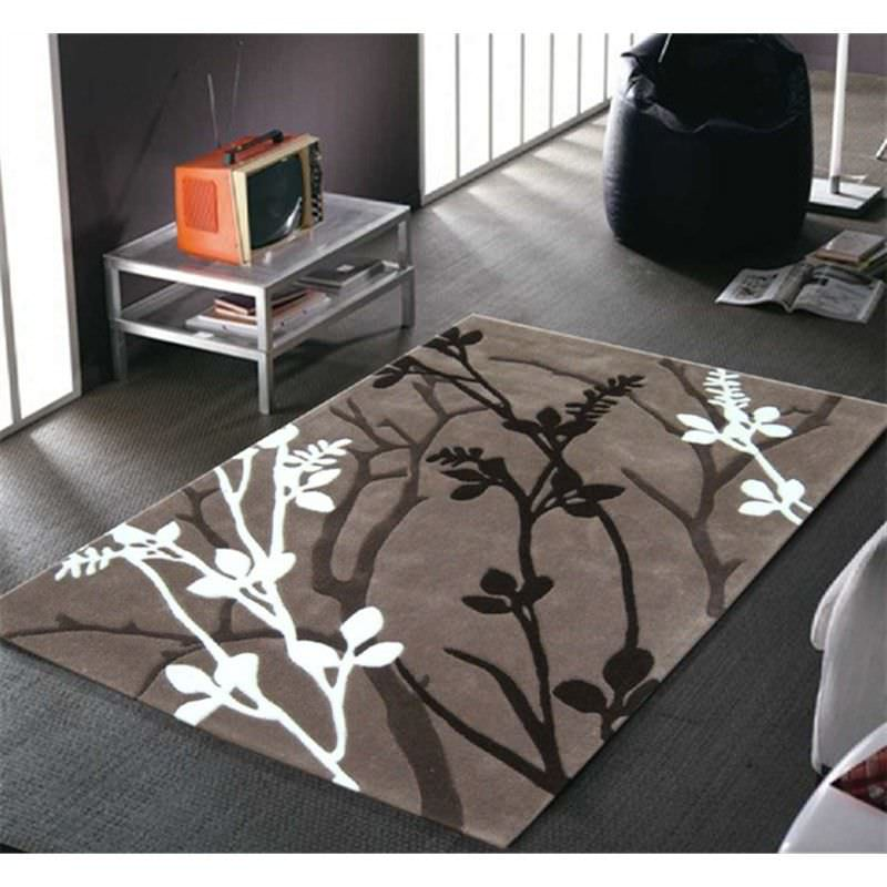 Organic Branch Design Rug in Natural - 280x190cm