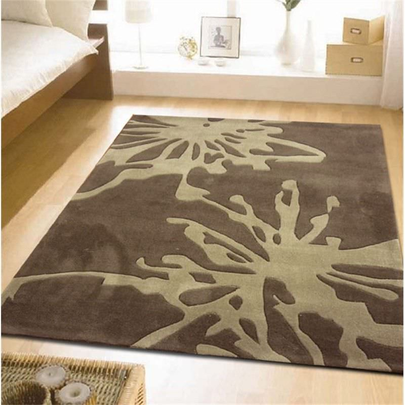 Latest Design Rug in Light Brown and Beige - 320x230cm