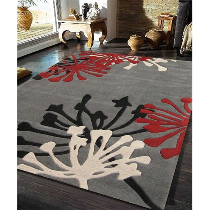Stunning New Rug in Taupe and Red - 320x230cm