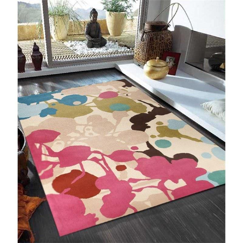 Paint Splatter Design Rug in Multi - 225x155cm