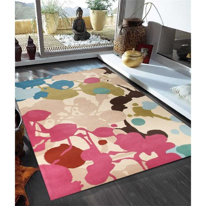 Paint Splatter Design Rug in Multi - 280x190cm