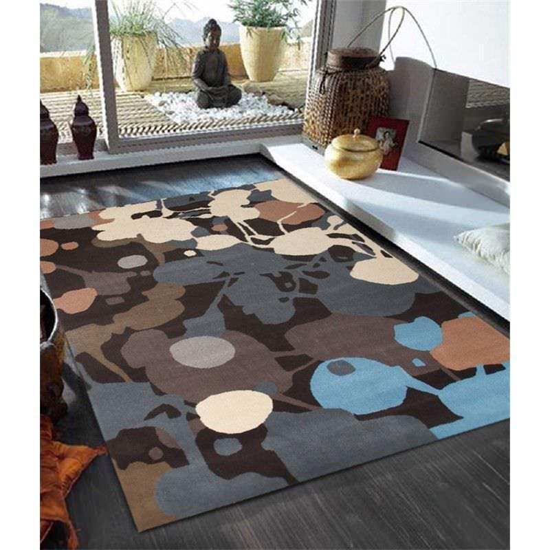 Paint Splatter Design Multi Coloured Rug - 225x155cm