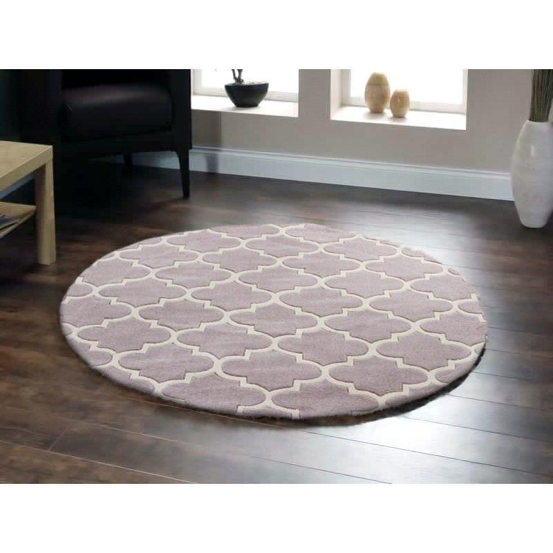 Lattice Round Rug in Dirty Brown - 150x150cm