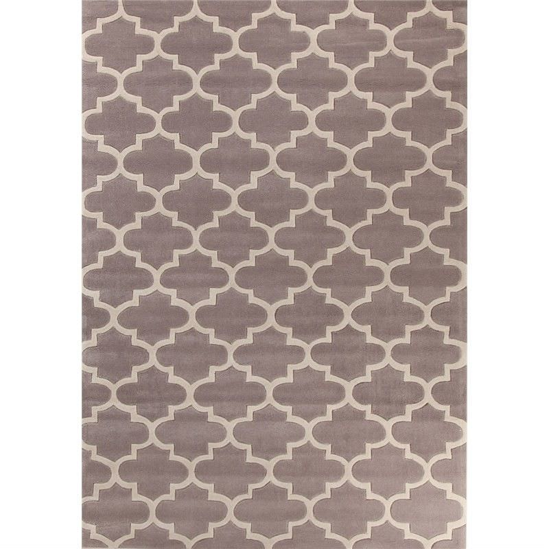 Lattice Rug in Dirty Brown - 225x155cm