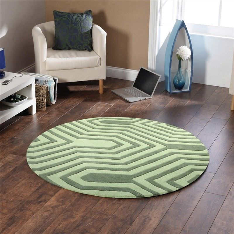 Circuit Board Round Rug in Green - 200x200cm