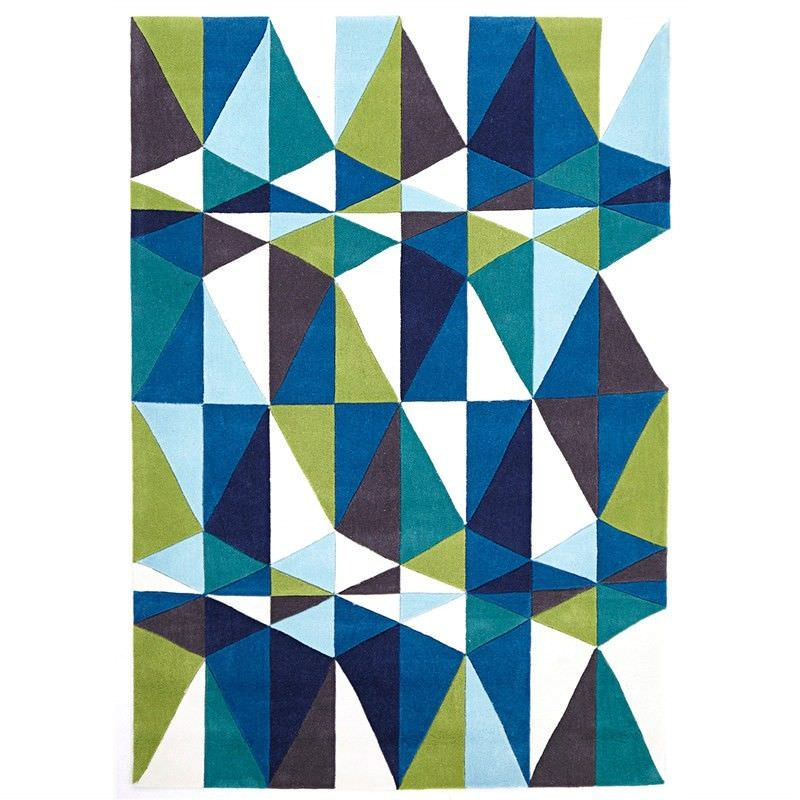 Narris Crystal Hand Tufted Rug in Blue Tone - 165x115cm