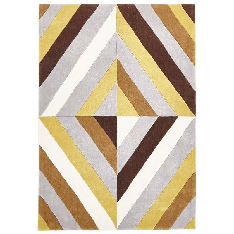 Narris Prism Hand Tufted Rug in Yellow Tone - 280x190cm
