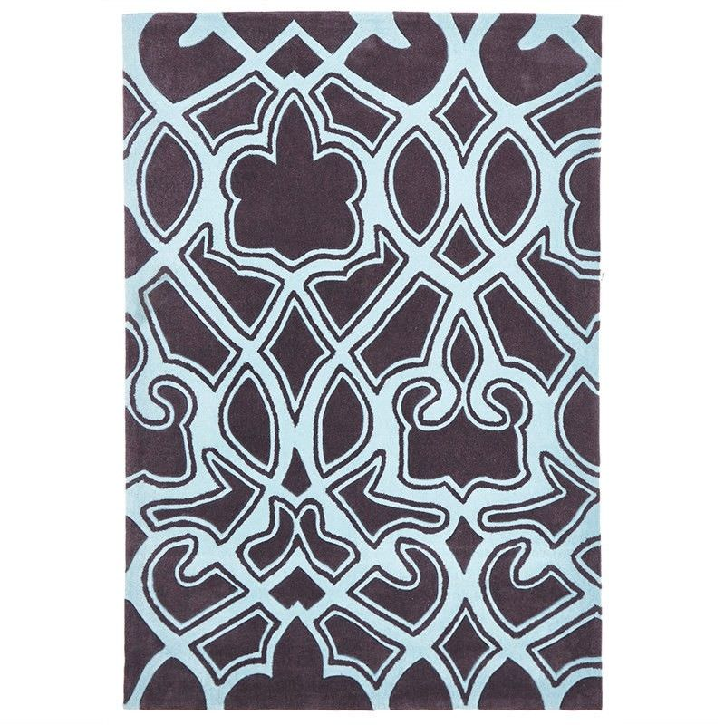 Narris Gothic Tribal Hand Tufted Rug in Smoky Grey - 280x190cm