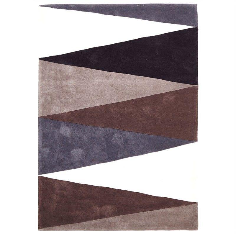 Narris Cascade Hand Tufted Rug in Neutral Tone - 165x115cm