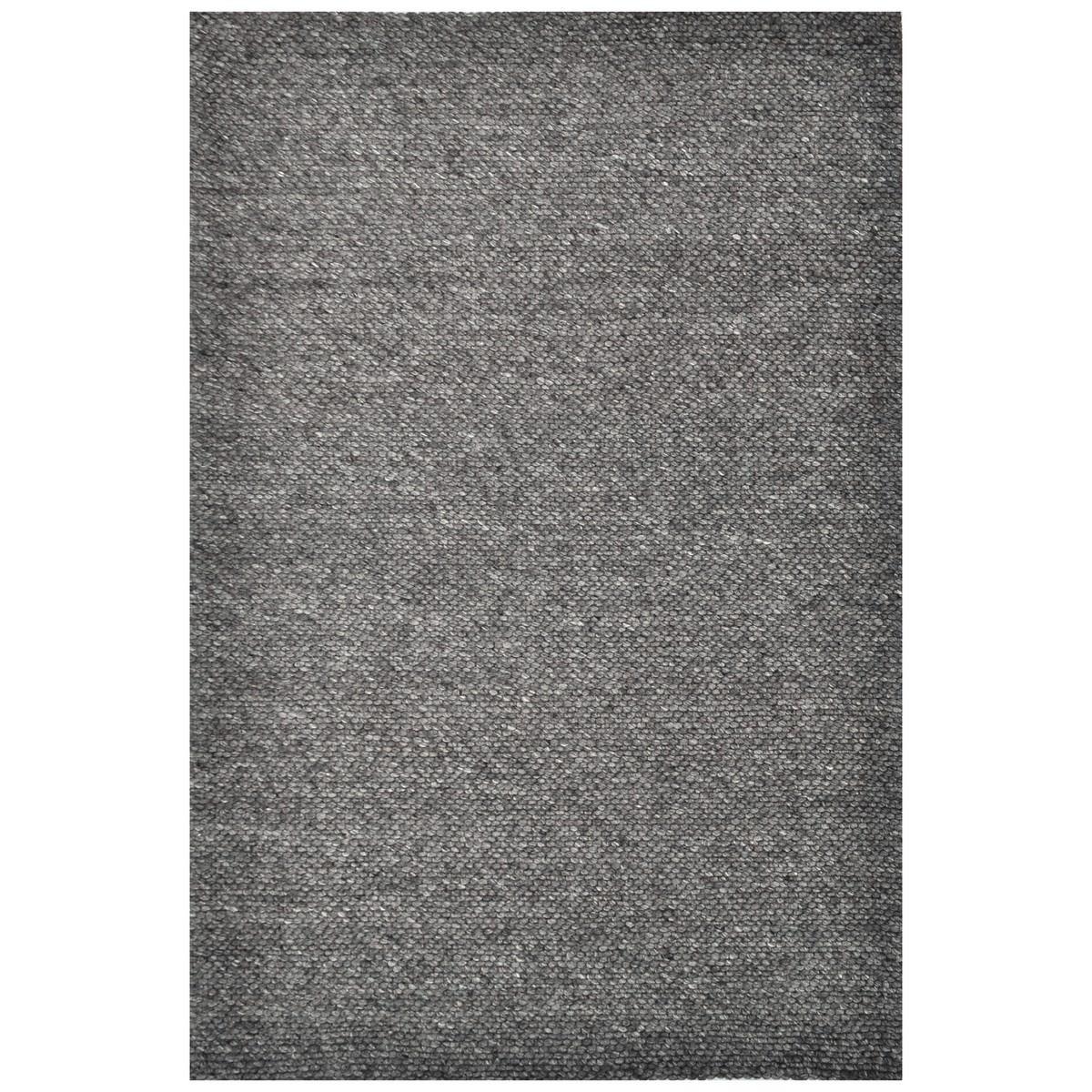 Adelaid Handwoven Wool Rug, 160x230cm, Charcoal
