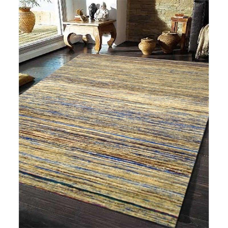 Designer Sari Silk Rug 1026 in Beige - 110x160cm