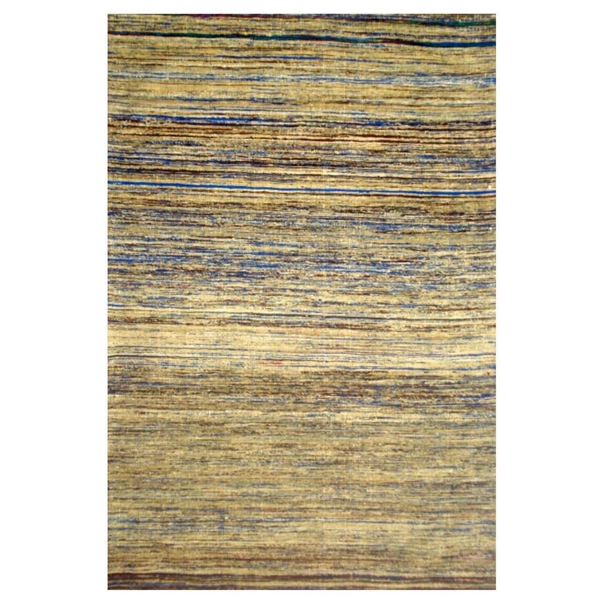 Chocho Handwoven Sari Silk Rug, 280x190cm, Beige