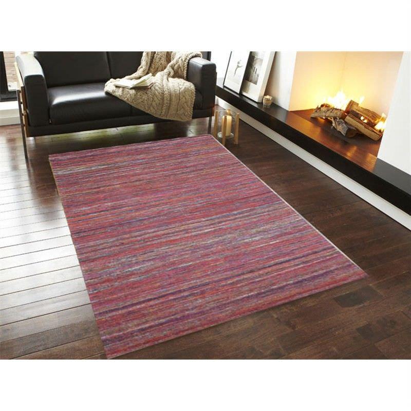 Designer Sari Silk Rug 1092 in Red - 110x160cm