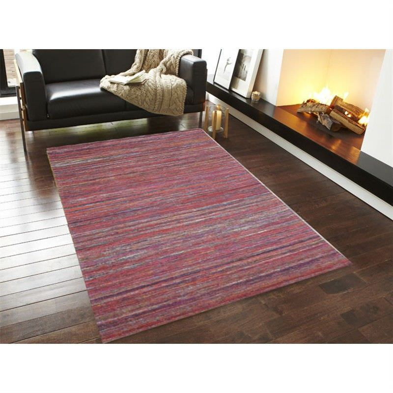 Designer Sari Silk Rug 1092 in Red - 160x230cm
