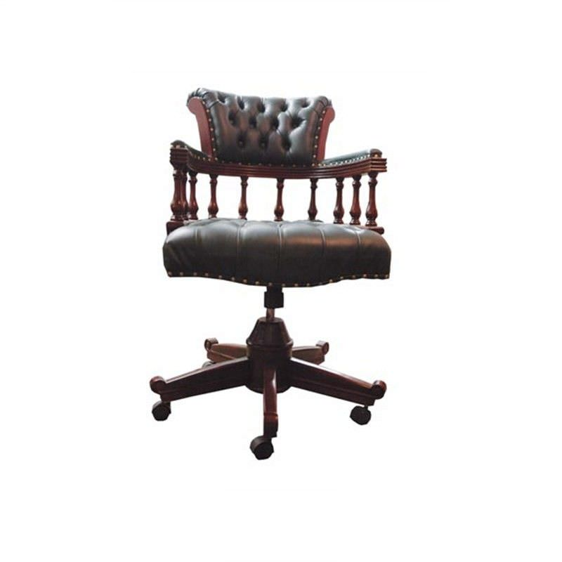Captains Chair in Burgundy