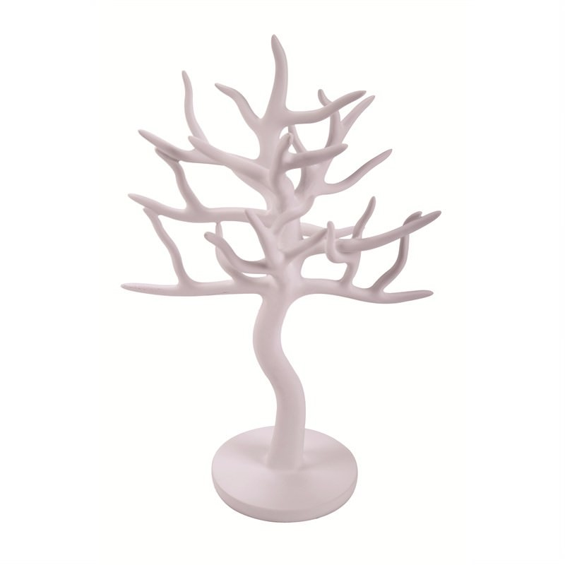 Jewellery Tree Round Base -White-23x18x31cm
