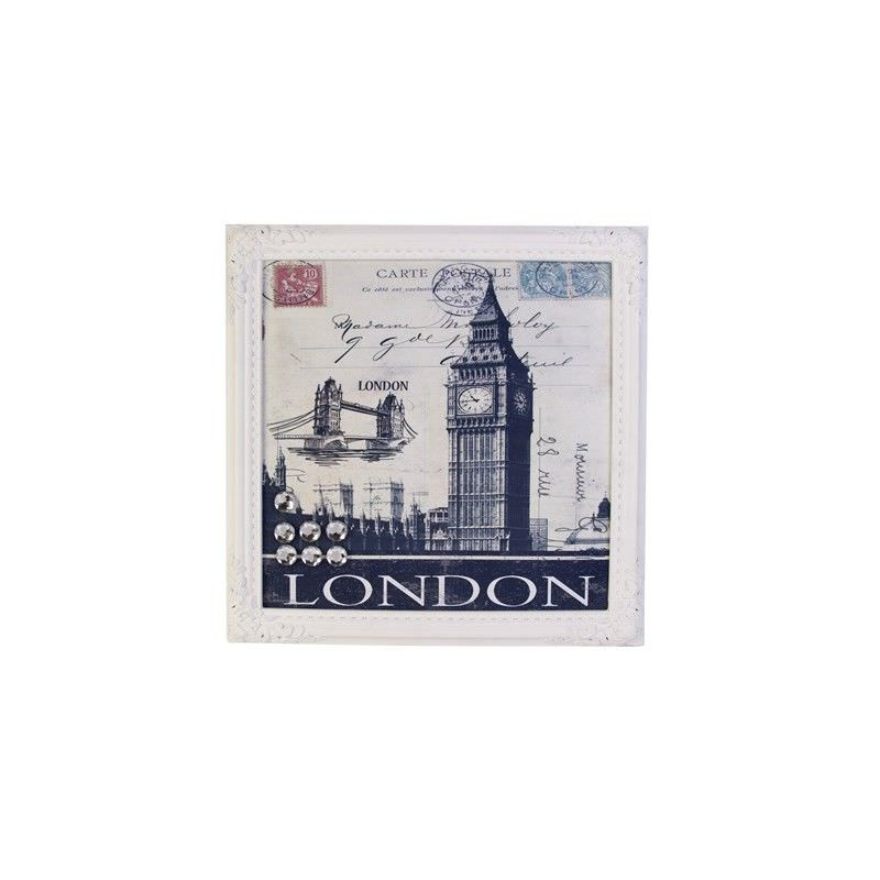 Wood Magnet Memo Board-London