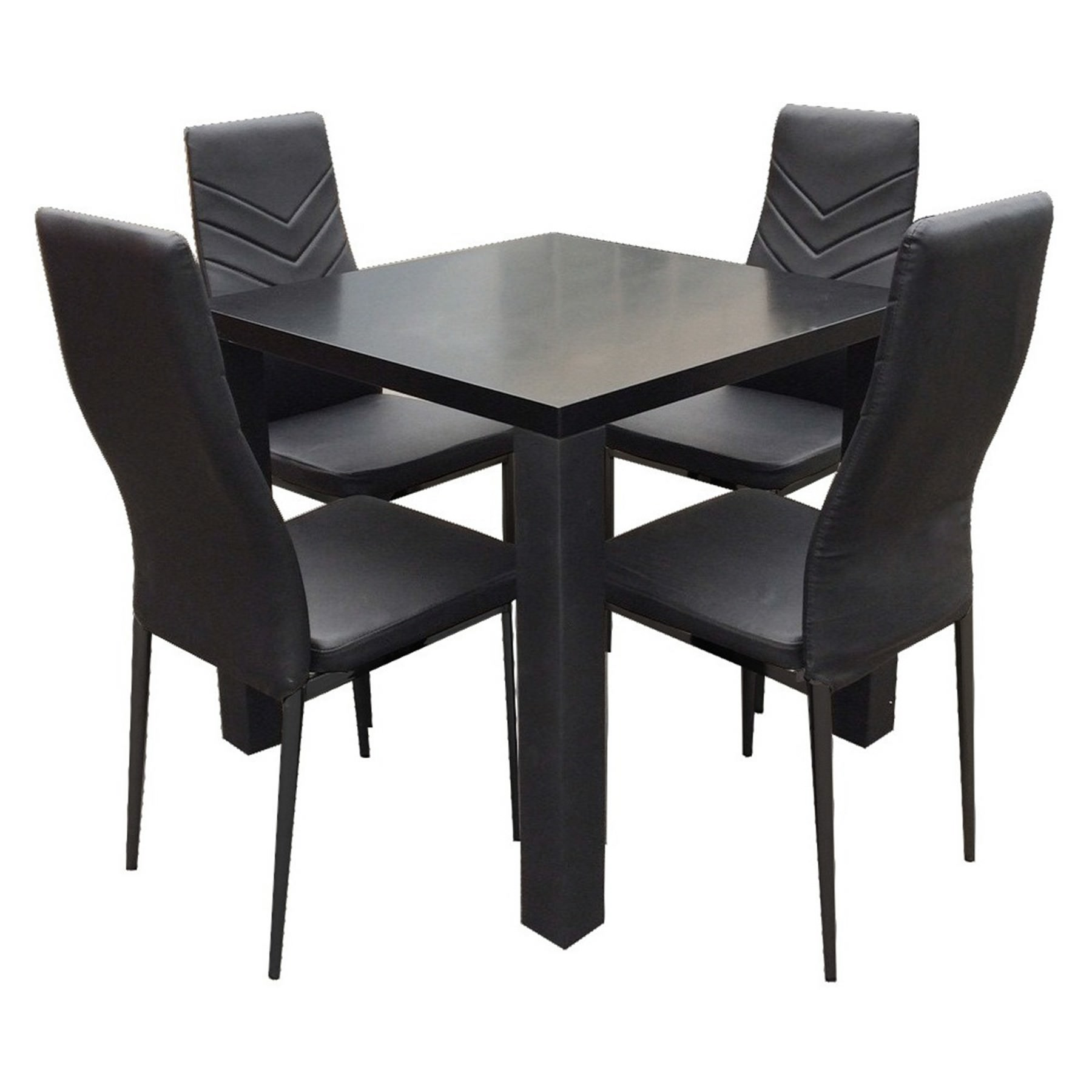 Harley 5 Piece Square Dining Table Set, 80cm