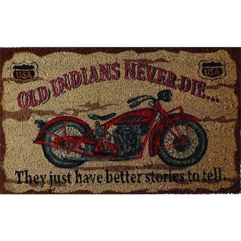 Motorcycle Coir Doormat - Goldenrod