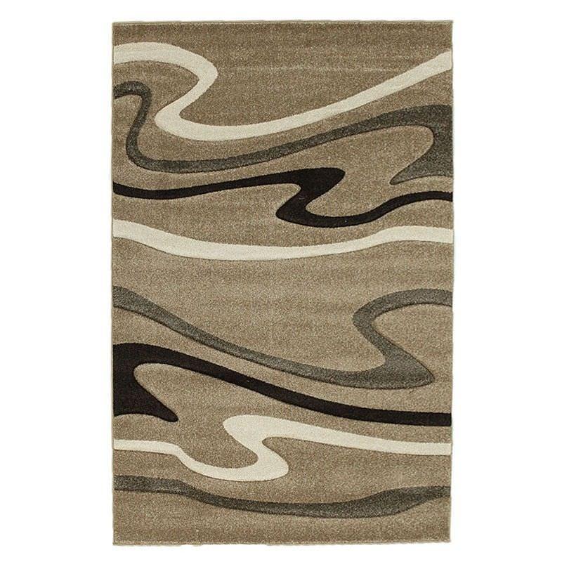 Icon Swirls Modern Rug, 230x160cm, Beige