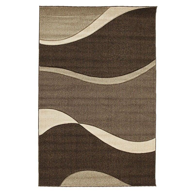 Icon Subtle Waves Modern Rug, 230x160cm, Brown