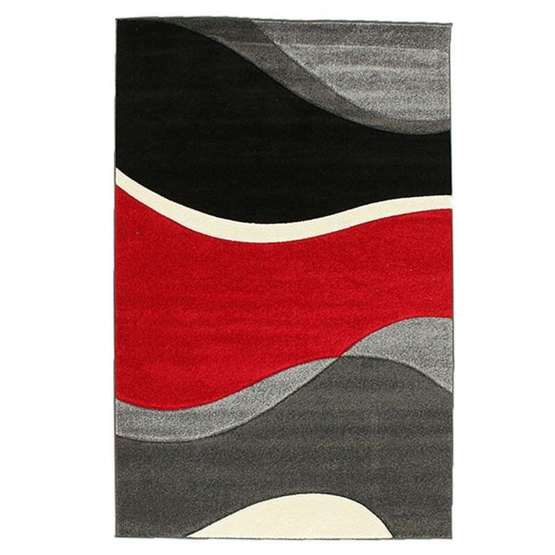 Icon Subtle Waves Modern Rug, 230x160cm, Red