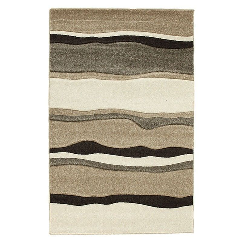 Icon Rhythm Modern Rug, 230x160cm, Beige / Brown