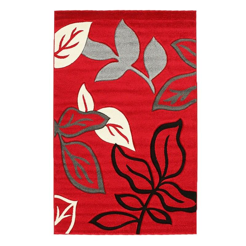 Icon Leaves Modern Rug, 230x160cm, Red