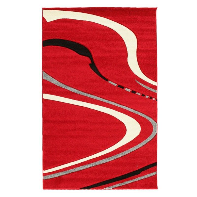 Icon Ultra Swirl Modern Rug, 230x160cm, Red