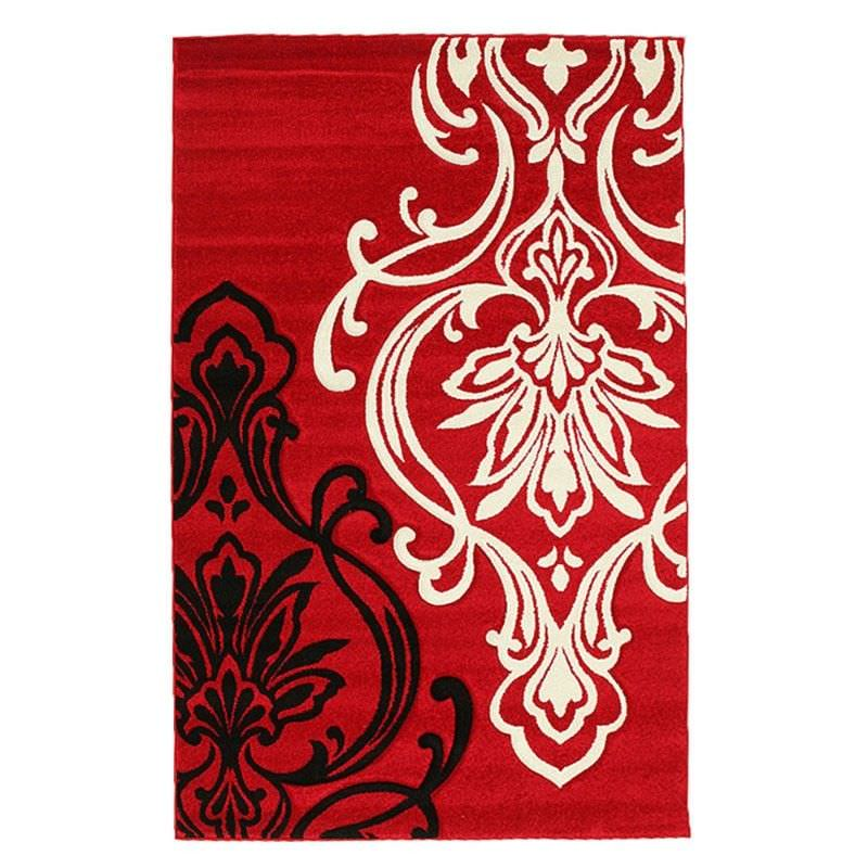 Icon Damask III Modern Rug, 230x160cm, Red