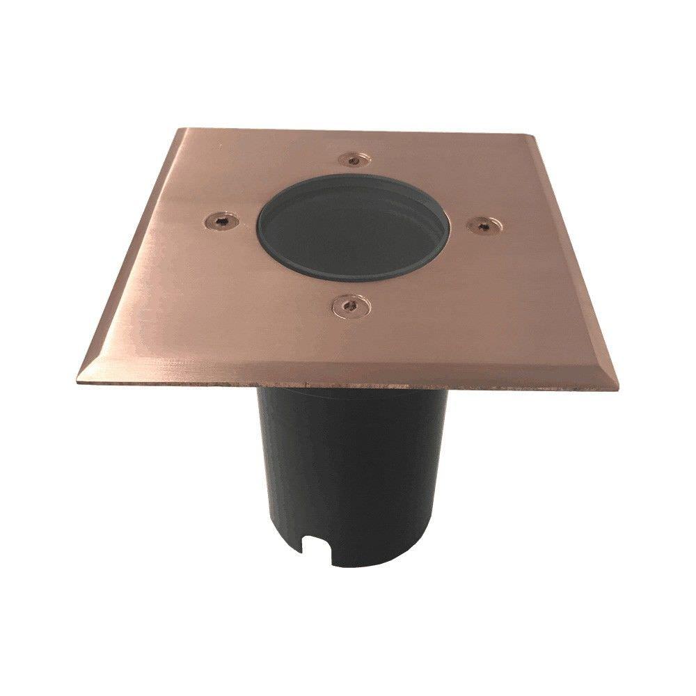 Lomond IP67 Exterior Recessed Wall / Inground Up Light, Square, Copper
