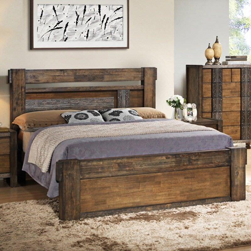 Atticus Wooden King Bed