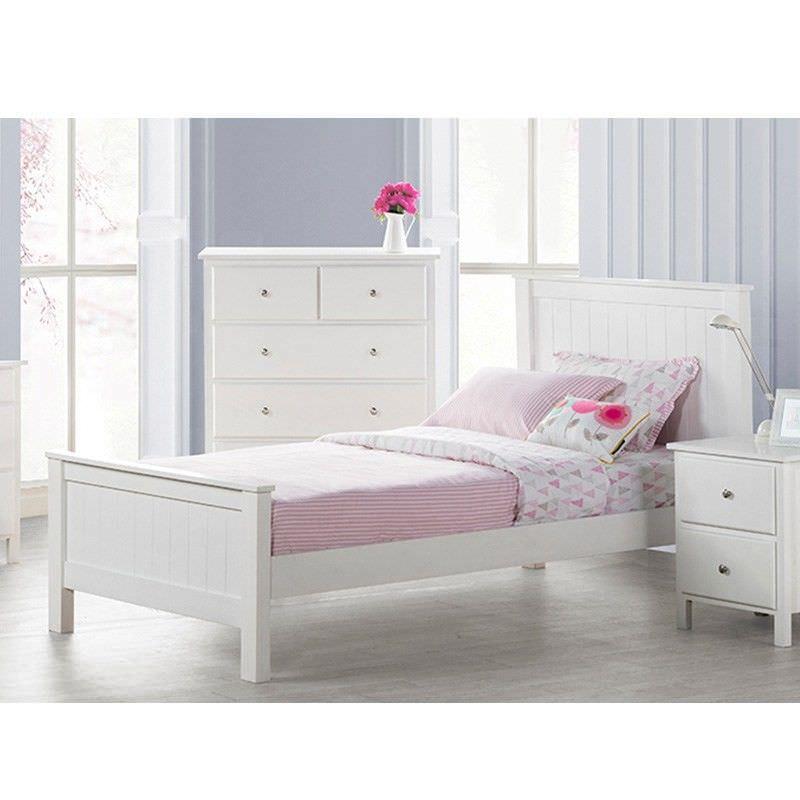 Brodie Wooden Bed, King Single