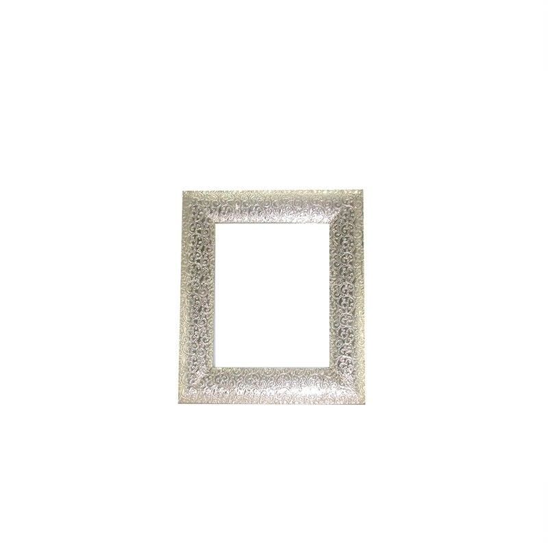 """White Metal and Timber Curl Design Frame Suitable For A 4X6"""" Photo - 20x1x25cm"""
