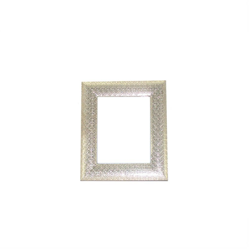 "White Metal and Timber Circle Design Frame Suitable For A 8X10"" Photo - 30x1x35cm"