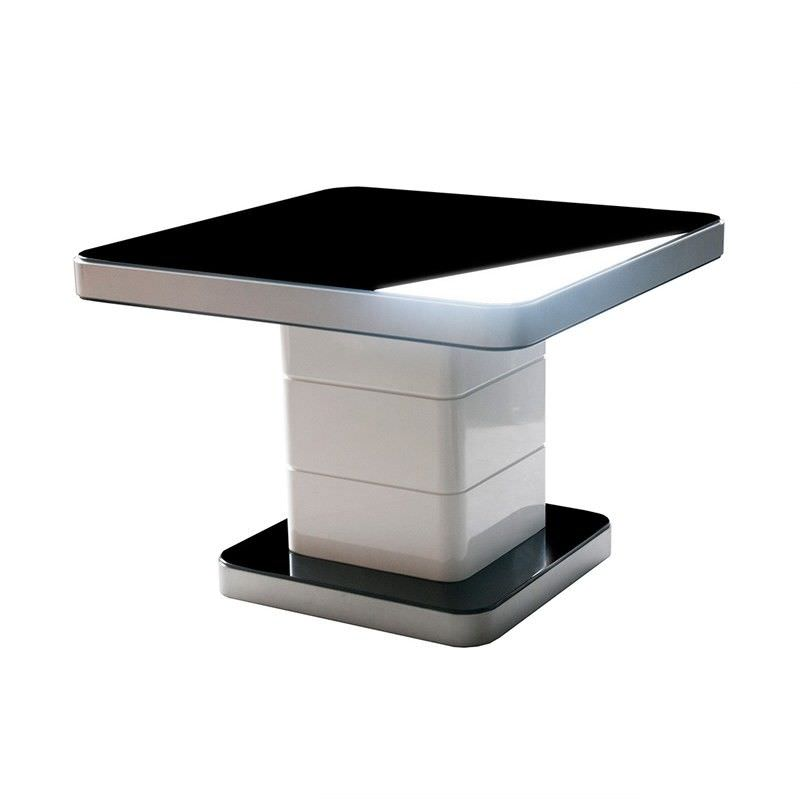 Iphone Black Glass Top Lamp Table
