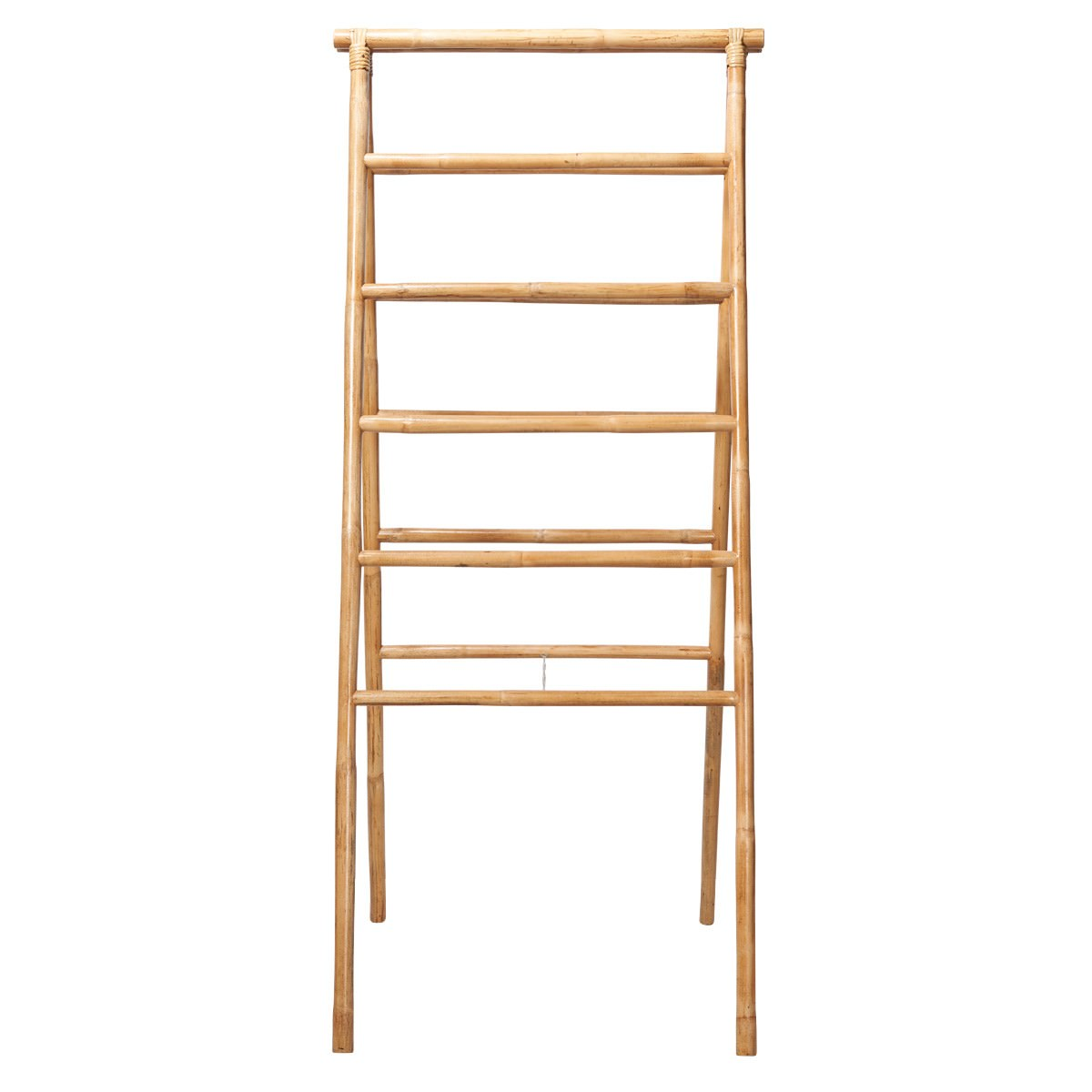 Mudoro Rattan Folding Ladder Display Rack