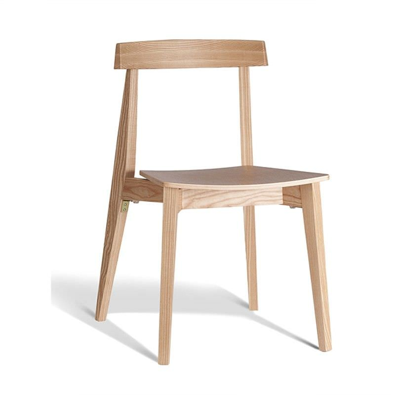 Ito Commercial Grade Solid Timber Dining Chair, Natural