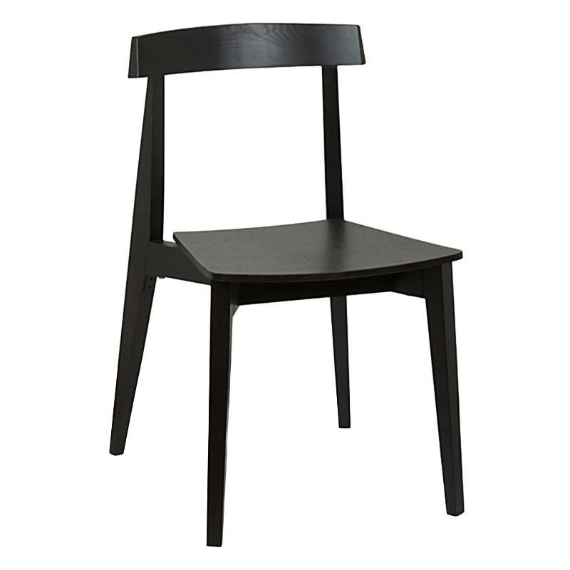 Ito Commercial Grade Solid Timber Dining Chair, Black