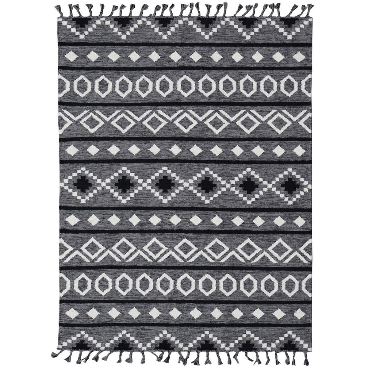 Artifact Handwoven Wool Rug , 160x230cm, Grey