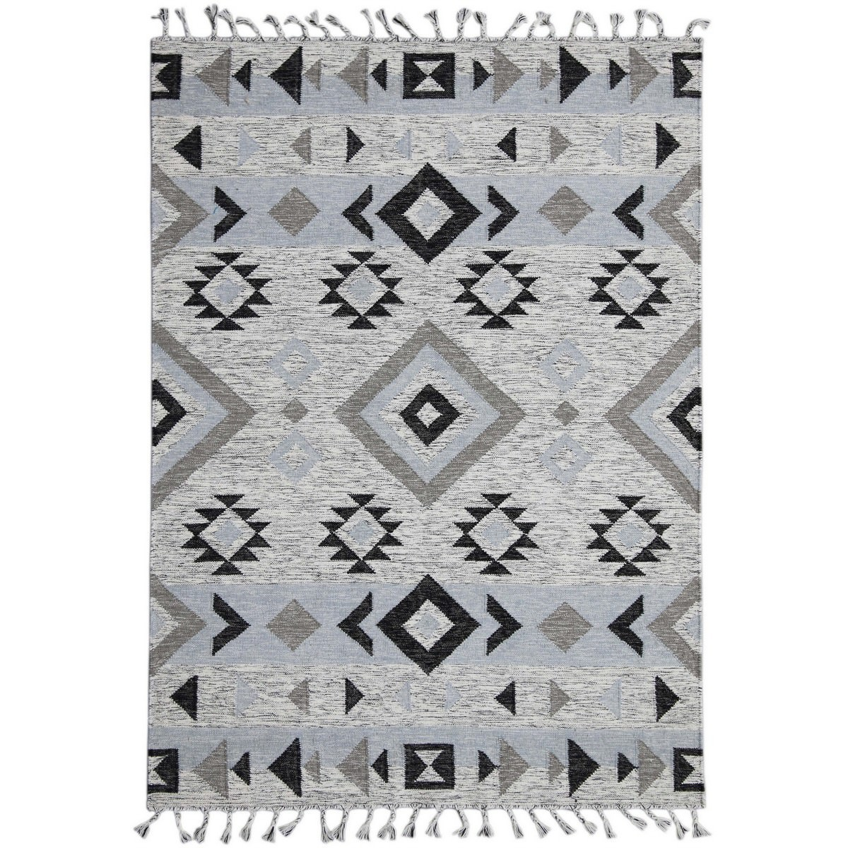 Artifact Handwoven Wool Rug , 190x280cm, Silver