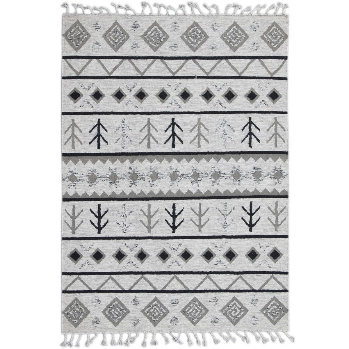 Artifact Handwoven Wool Rug , 190x280cm, Ivory
